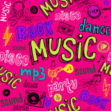 Seamless music background. Royalty Free Stock Image