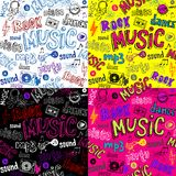 Seamless music background Stock Photos