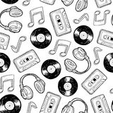 Seamless music media background Stock Image