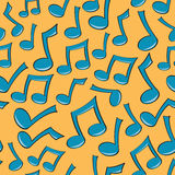 Seamless Music Note Pattern. A seamless pattern of fun blue music notes Royalty Free Stock Photos