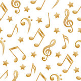 Seamless music notes. Royalty Free Stock Images