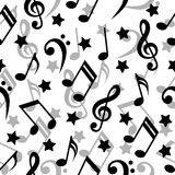 Seamless music notes. Royalty Free Stock Photography
