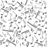 Seamless Music Notes Background Stock Images