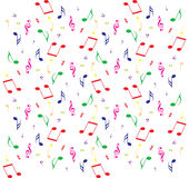 Seamless music pattern. Vector seamless background with music notes stock illustration