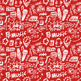 Seamless music pattern Stock Photo