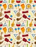 Seamless music pattern. Illustration Stock Image
