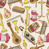 Seamless music pattern. Vector drawing Royalty Free Stock Images