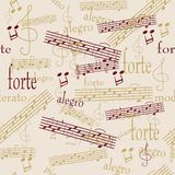 Seamless music pattern Stock Image