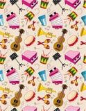 Seamless music pattern vector illustration