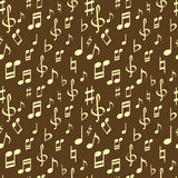 Seamless music pattern Royalty Free Stock Photo