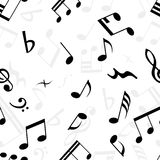 Seamless music wallpaper. Seamless musical notes texture. For easy making seamless pattern just drag all group into swatches bar, and use it for filling any stock illustration