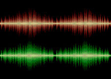Seamless music wave pattern Royalty Free Stock Photos