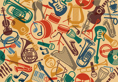 Seamless musical background Royalty Free Stock Photo
