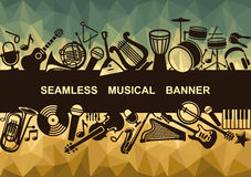 Seamless musical banner Stock Image