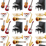Seamless musical Royalty Free Stock Images