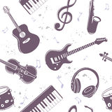 Seamless musical instruments Royalty Free Stock Photography