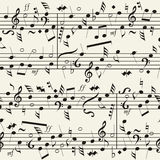 Seamless musical notation background Stock Images