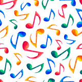 Seamless musical pattern - notes Stock Images