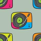 seamless musikmodell Arkivbilder