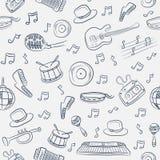 seamless musikmodell Royaltyfri Bild