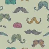 Seamless mustache pattern. Vector seamless vintage mustache pattern Royalty Free Stock Photo