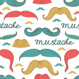 Seamless mustache pattern. Colorful stylish seamless mustache pattern. Vector illustration Stock Photography