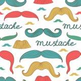Seamless mustache pattern Stock Photography