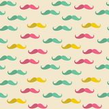Seamless mustache pattern Royalty Free Stock Photo