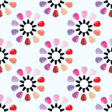 Seamless nail polish pattern Stock Images