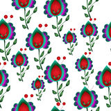 Seamless naive floral  repeat background Stock Photo