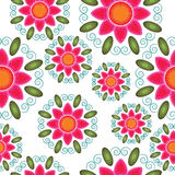 Seamless naive floral  repeat background Stock Photography