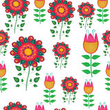 Seamless naive floral vector repeat background Royalty Free Stock Photo