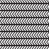 Seamless native pattern weave tile in monochrome background Royalty Free Stock Photo