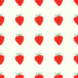 Seamless natural color pattern of red ripe. Seamless pattern of red ripe strawberries. Natural seamless pattern of garden fruits Royalty Free Stock Images