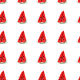Seamless natural color pattern of red ripe watermelon. Natural seamless pattern of garden market fruits Royalty Free Stock Image