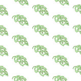 Seamless natural pattern of leaves. Background Stock Photo