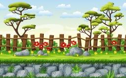 Seamless nature cartoon background Stock Image