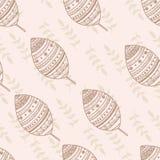 Seamless nature pattern ethnic leaf hand drawn. Design Royalty Free Stock Photo