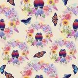 Seamless nature pattern royalty free stock photos