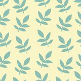Seamless nature pattern with graphic brunch.  Hand. Seamless nature pattern with graphic brunch. Hand drawing leav vector illustration Royalty Free Stock Photography