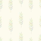 Seamless nature pattern with graphic brunch.  Hand. Seamless nature pattern with graphic brunch. Hand drawing leavs vector illustration Royalty Free Stock Photo