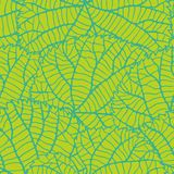 Seamless nature pattern with green leaves vector illustration