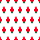 Seamless nature pattern with rose hip. Simple botanical illustration. Natural decorative background Stock Image