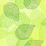Seamless nature pattern with stylized green leaves. Nature illustration royalty free illustration