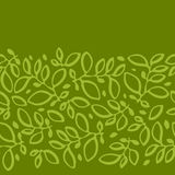 Seamless nature pattern with stylized leaves stock illustration