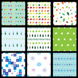 Seamless nature patterns vector illustration