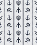 Seamless Nautical Pattern Stock Images