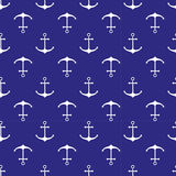 Seamless nautical pattern Stock Photo