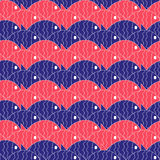 Seamless nautical pattern with fish Royalty Free Stock Photo