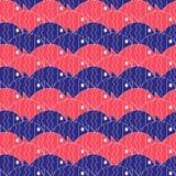 Seamless nautical pattern with fish Royalty Free Stock Photo